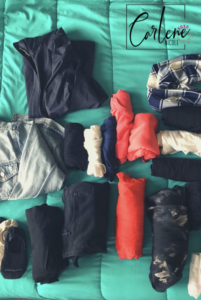 Pick a couple colors for your outfits to make arranging outfits easier
