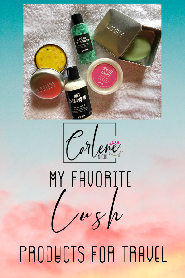 Carry on friendly toiletries beauty products lush store
