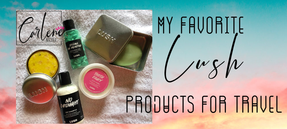 Lush products great for travel