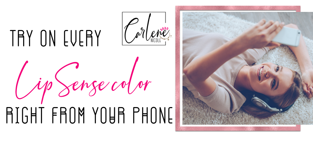 Try Lipsense lipstick right from your phone